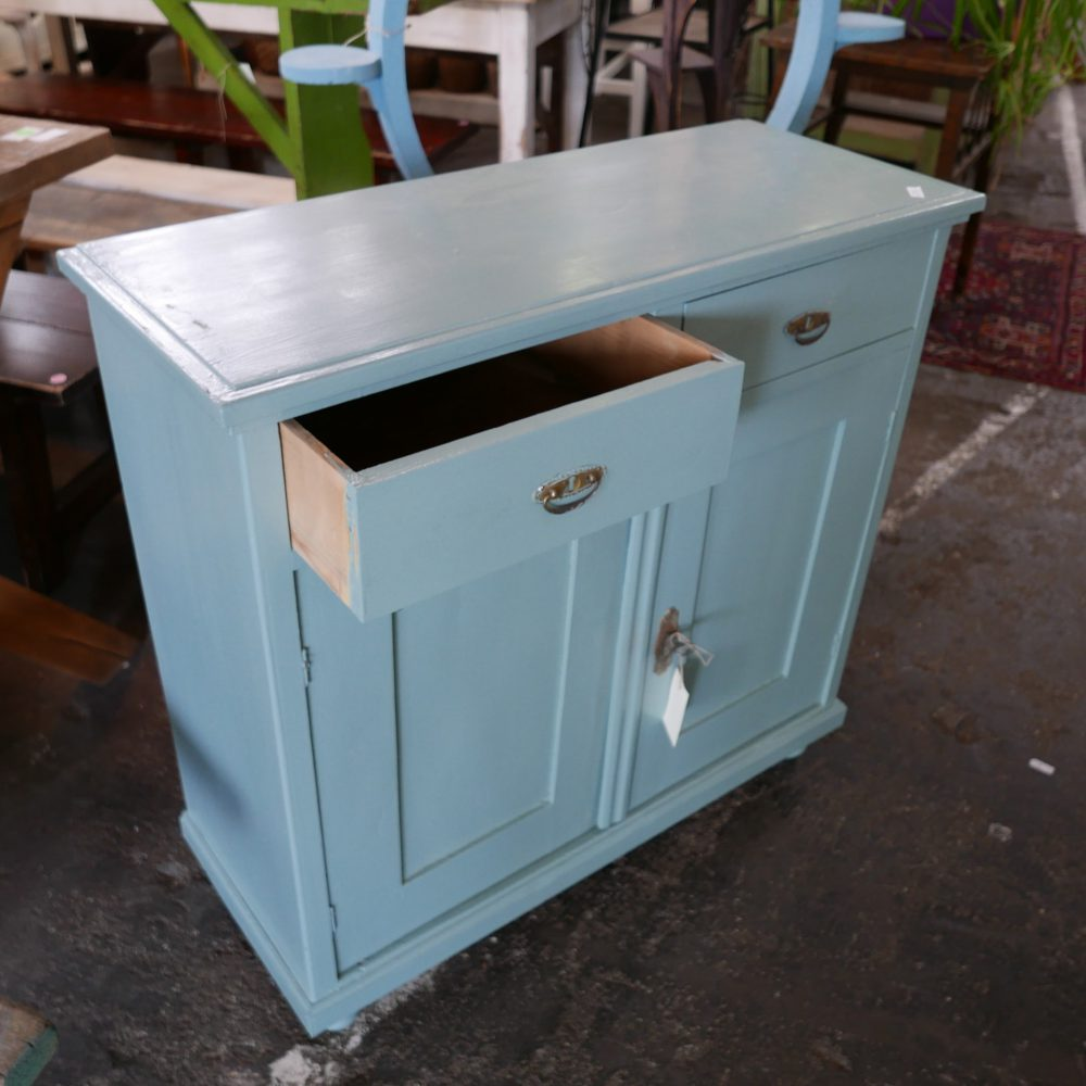 Turquoise commode