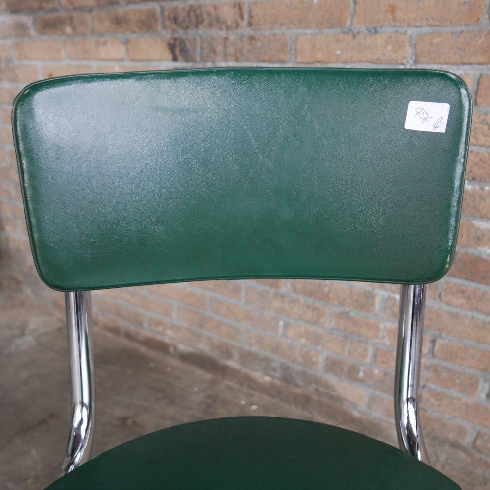 Groene retro stoel