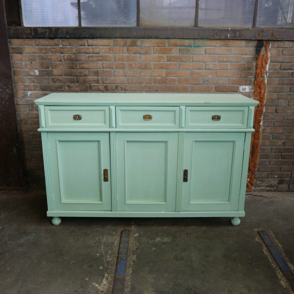 Mintgroen dressoir commode