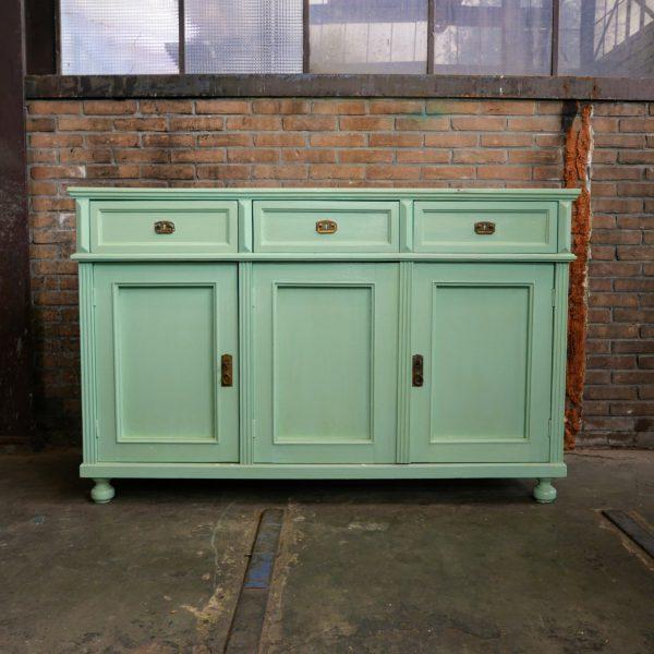 Mintgroen dressoir commode