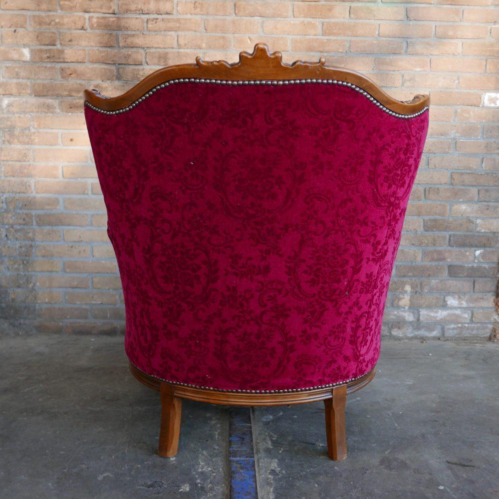 Rode barok fauteuil