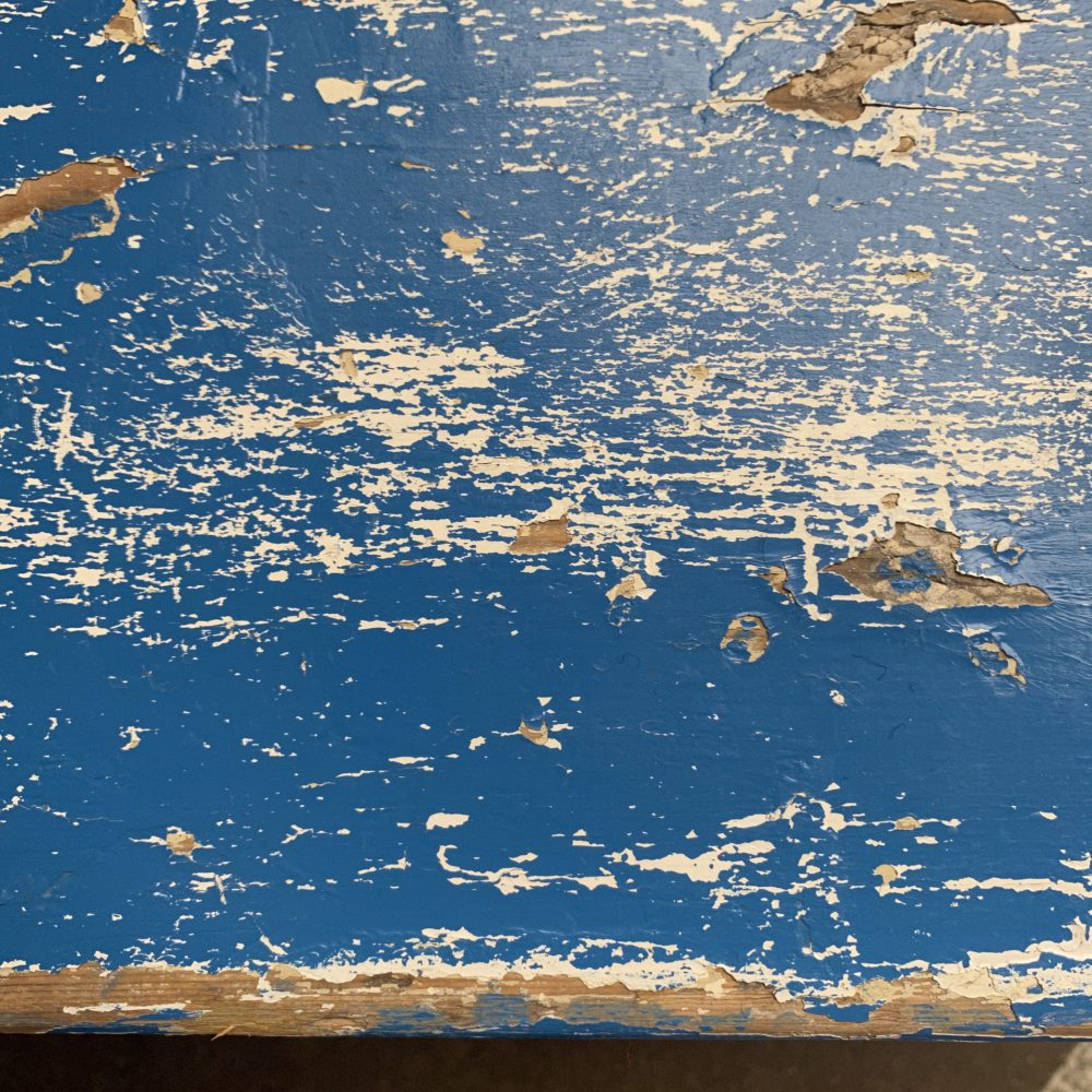 Wit blauwe kinderbank