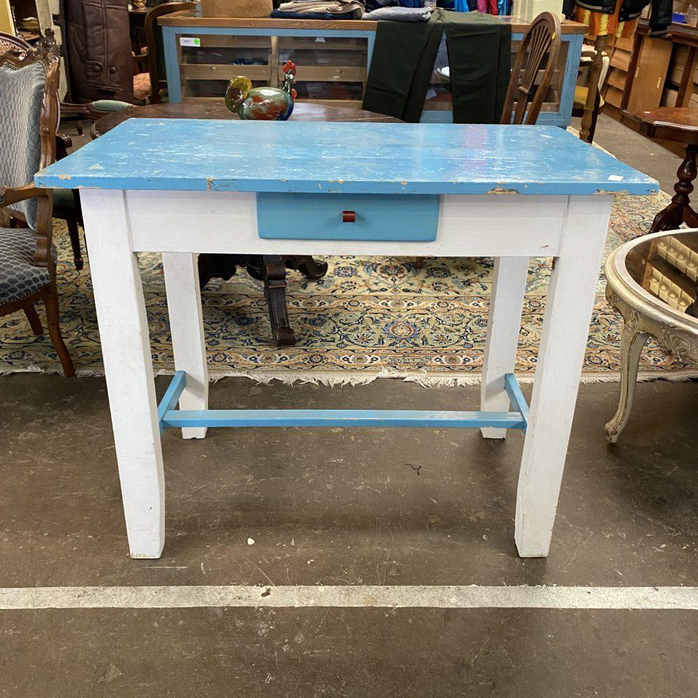 Blauw-wit tafeltje