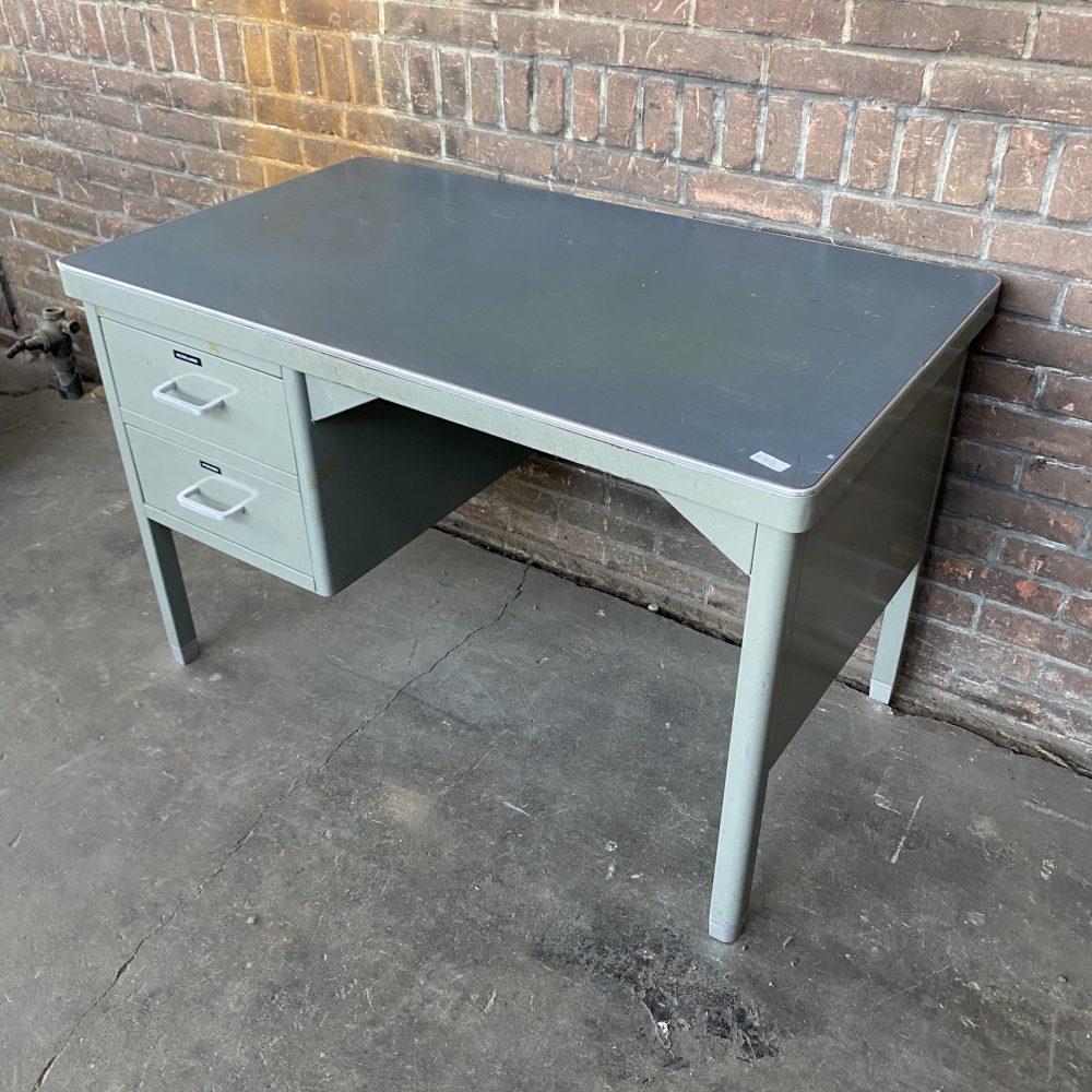 Vintage metalen bureau kinderbureau