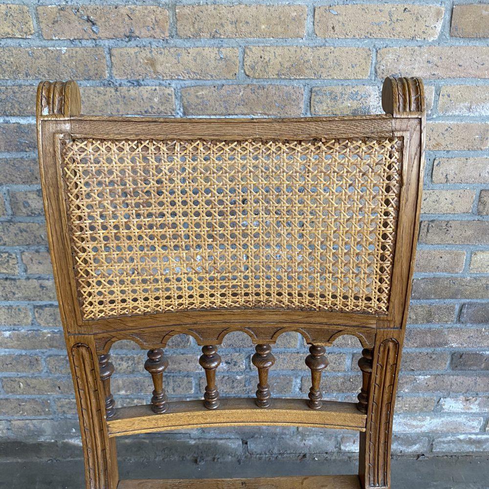 Houten rotan stoel