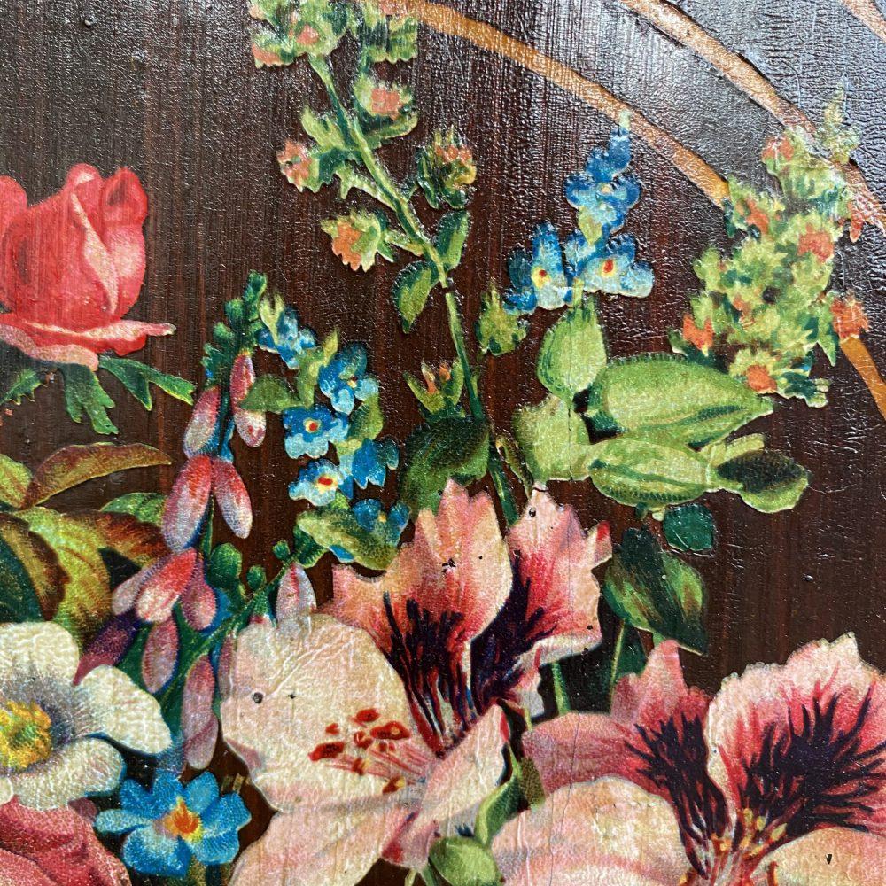 Brocante beschilderde linnenkast