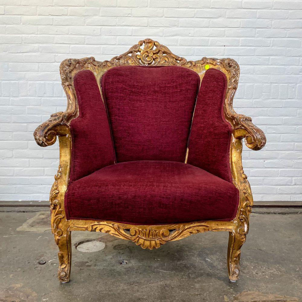 Barok gouden fauteuil