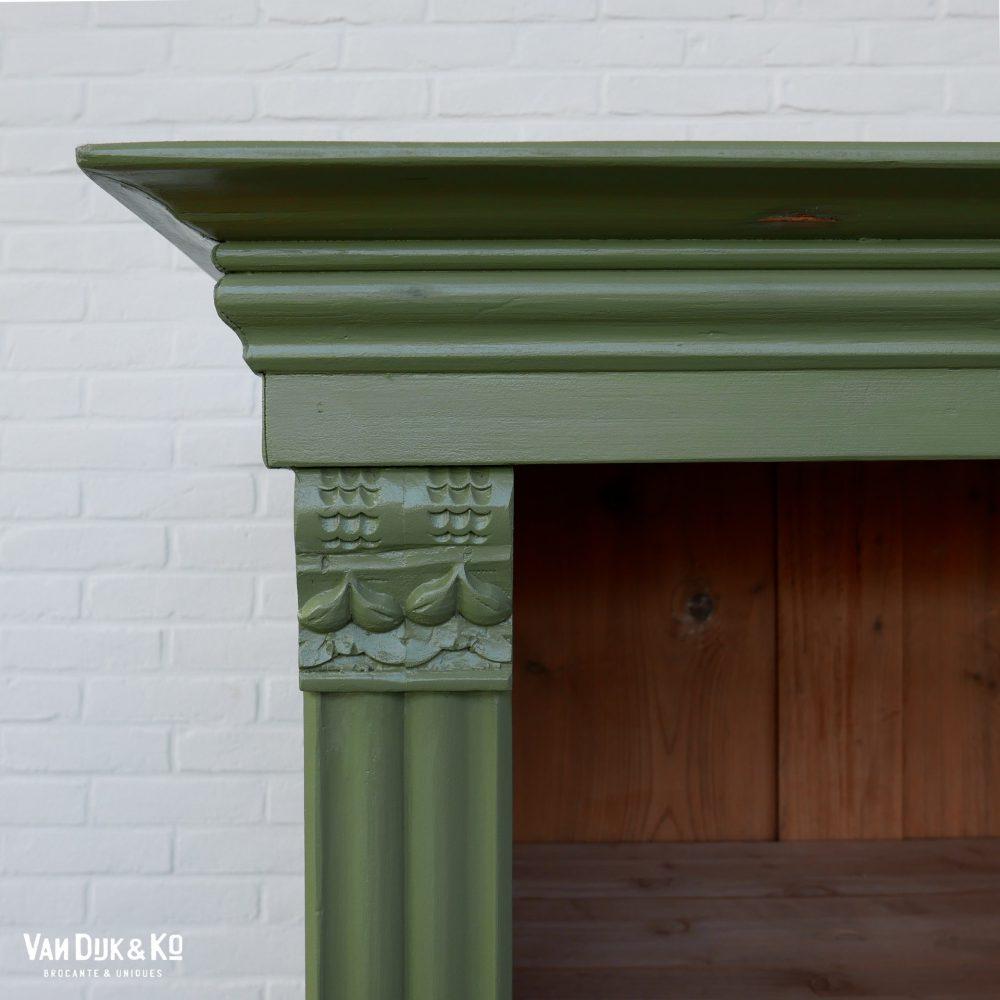 Groene boekenkast