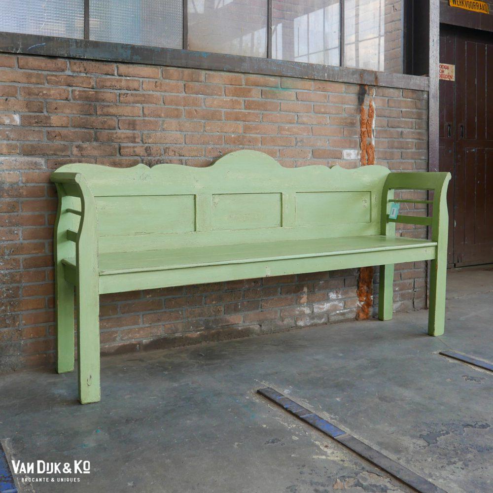 Brocante groene bank