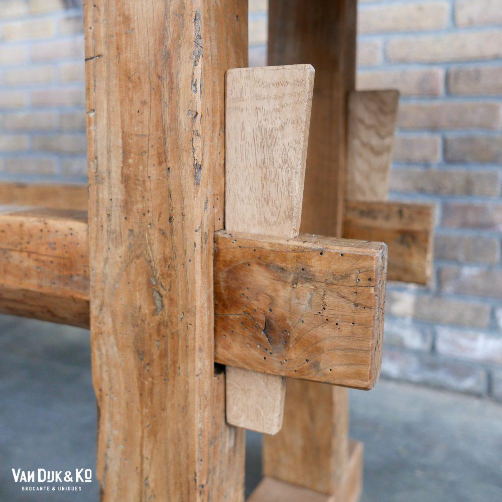 vintage houten werktafel