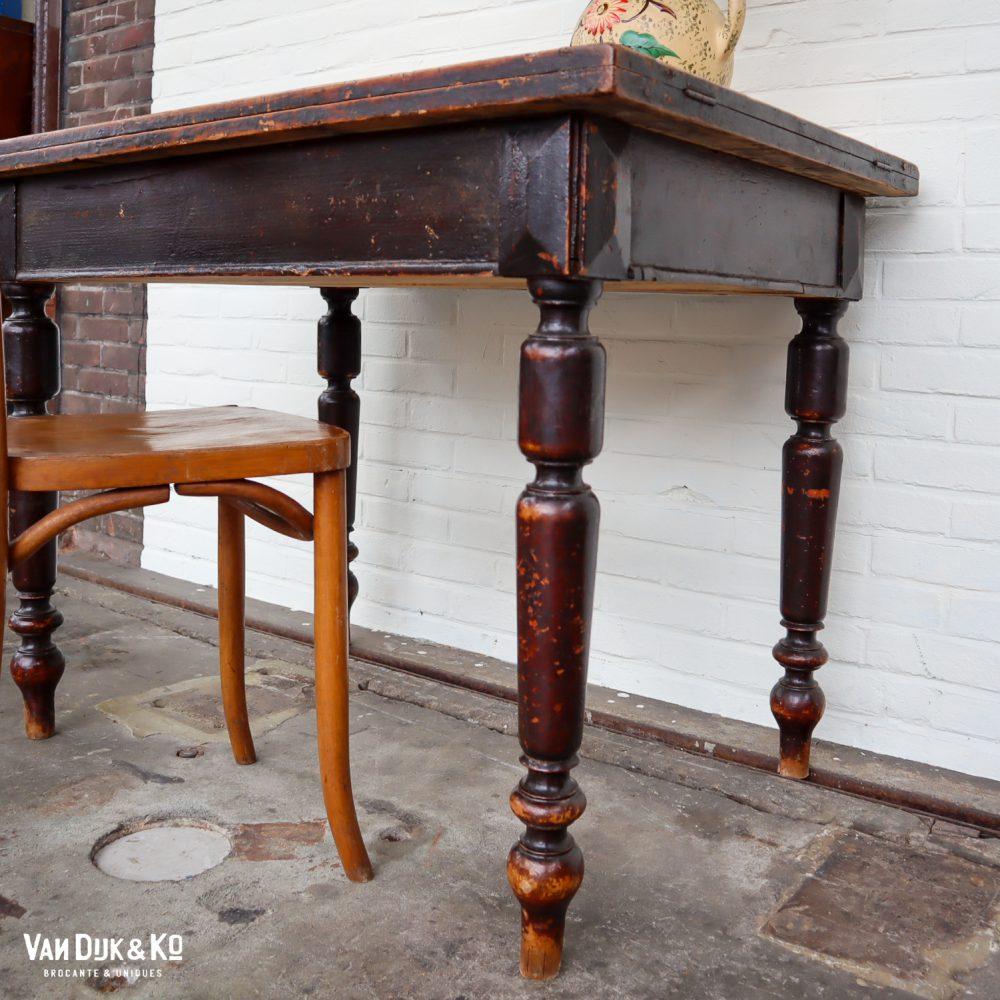 Brocante houten tafel