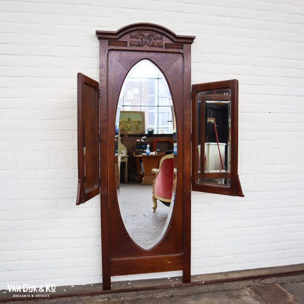 Vintage houten spiegel