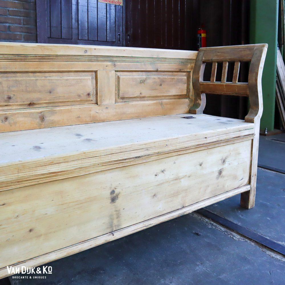 brocante houten klepbank