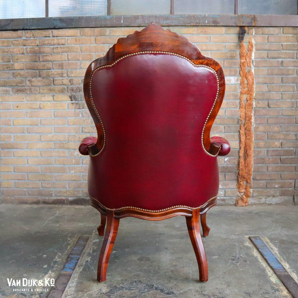 Barok leren fauteuils