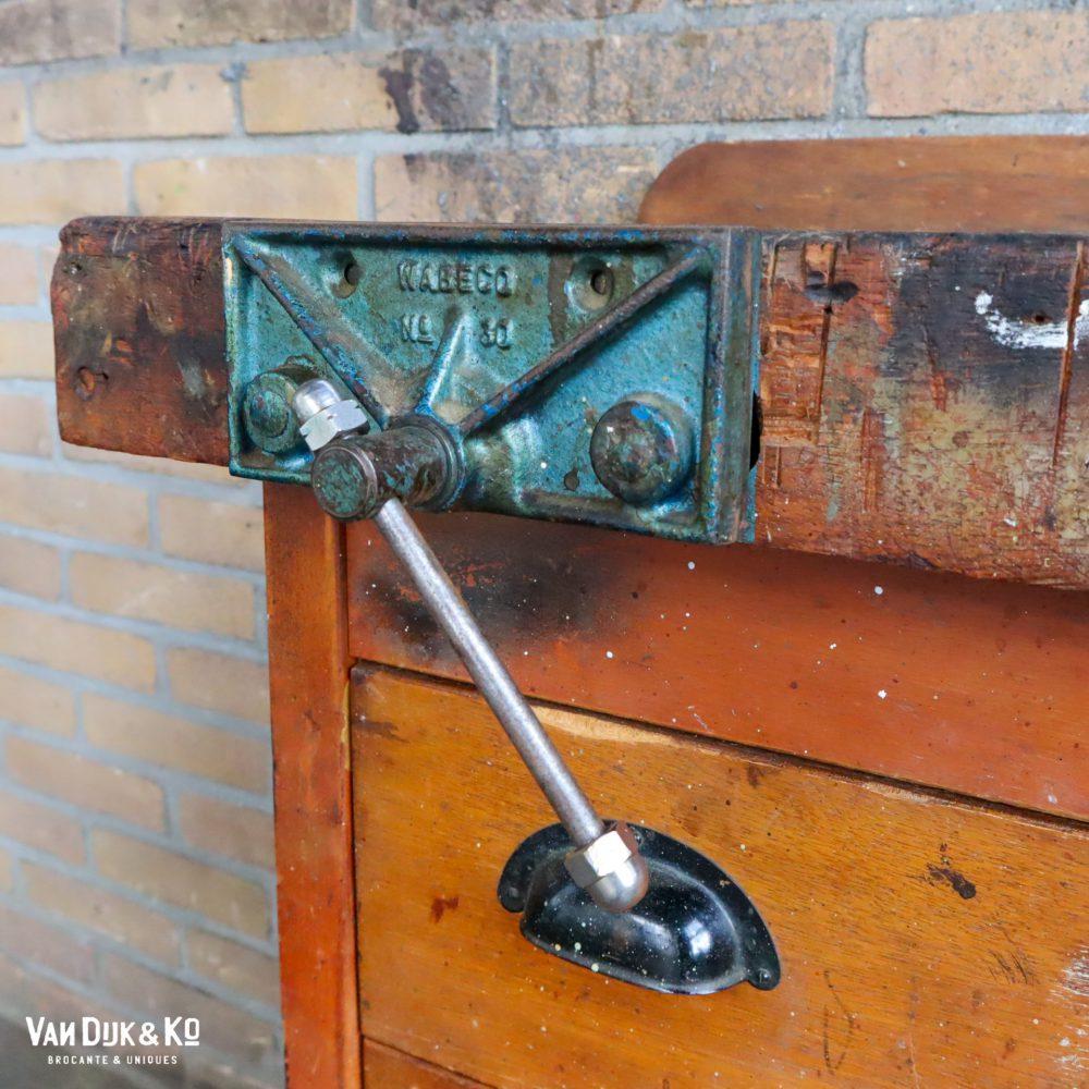 vintage houten werkbank
