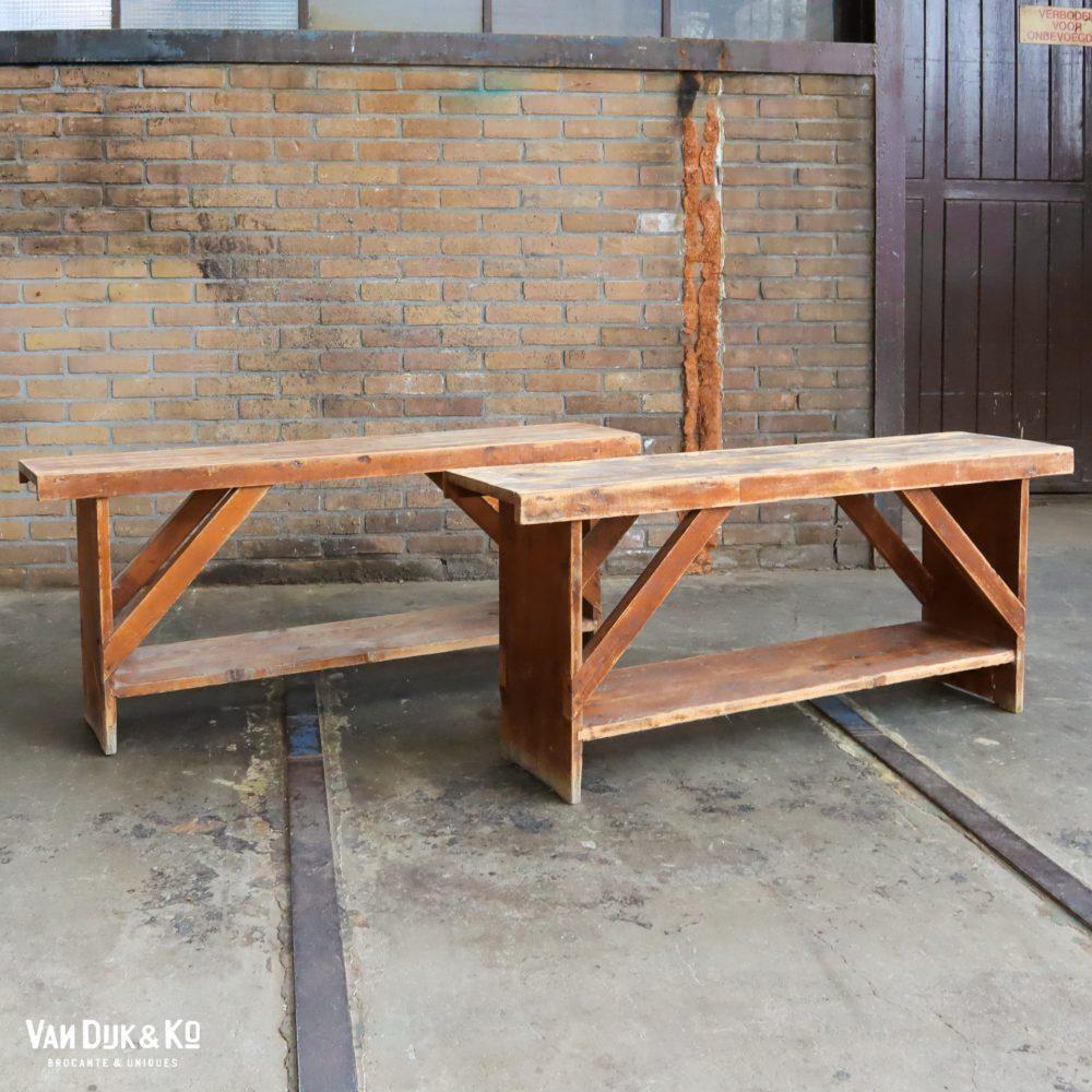 Brocante houten bankje