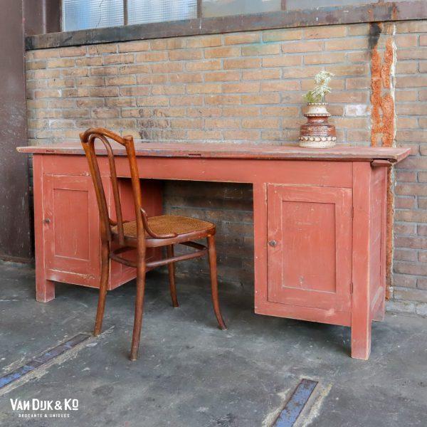 Brocante houten bureau