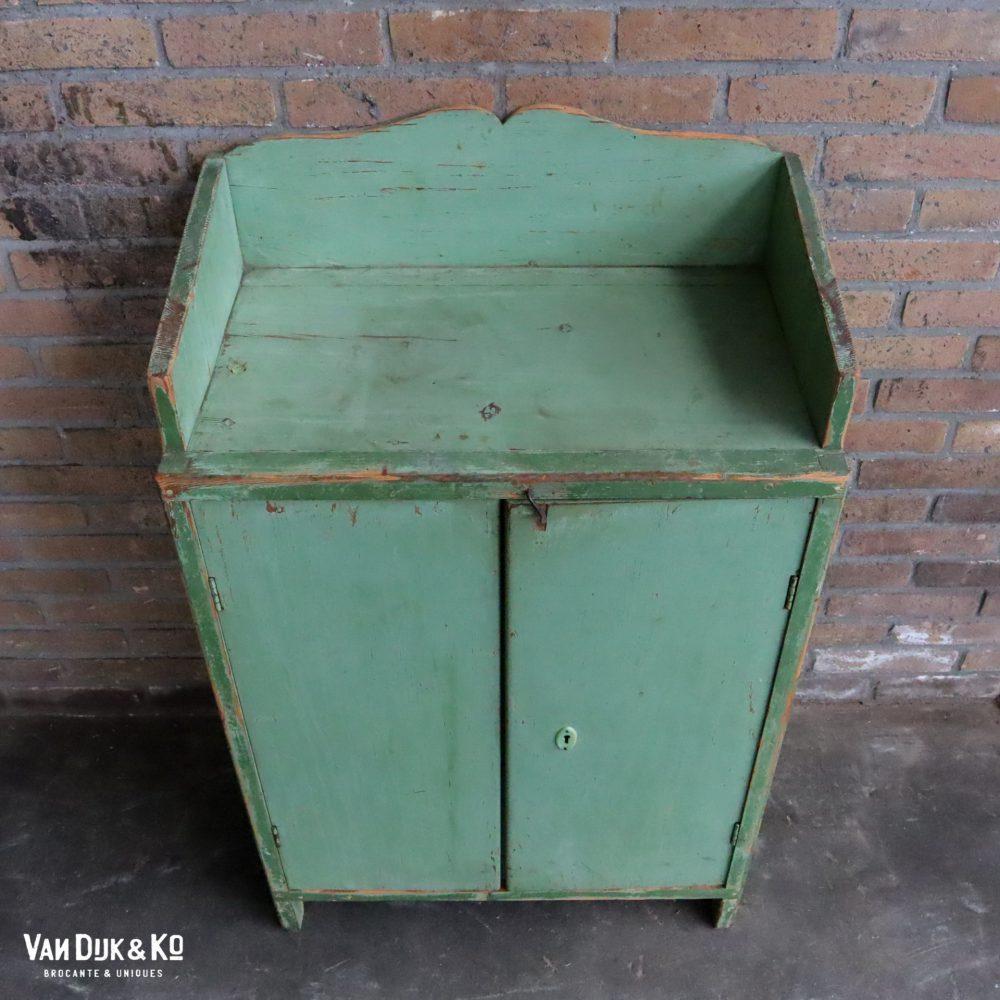brocante groene kastje