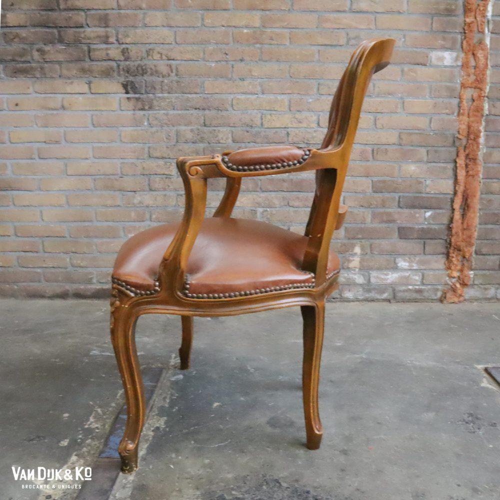 Leren Louis XV stoel