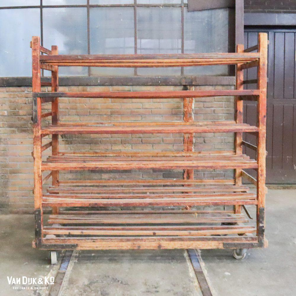 vintage houten broodrek