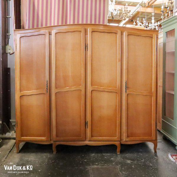 vintage vierdeurs kledingkast