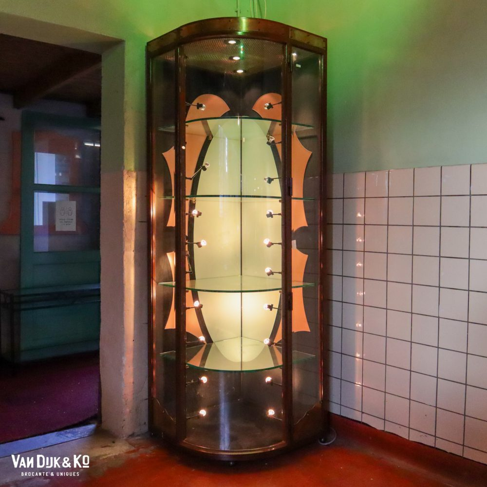 Vintage glazen vitrinekast