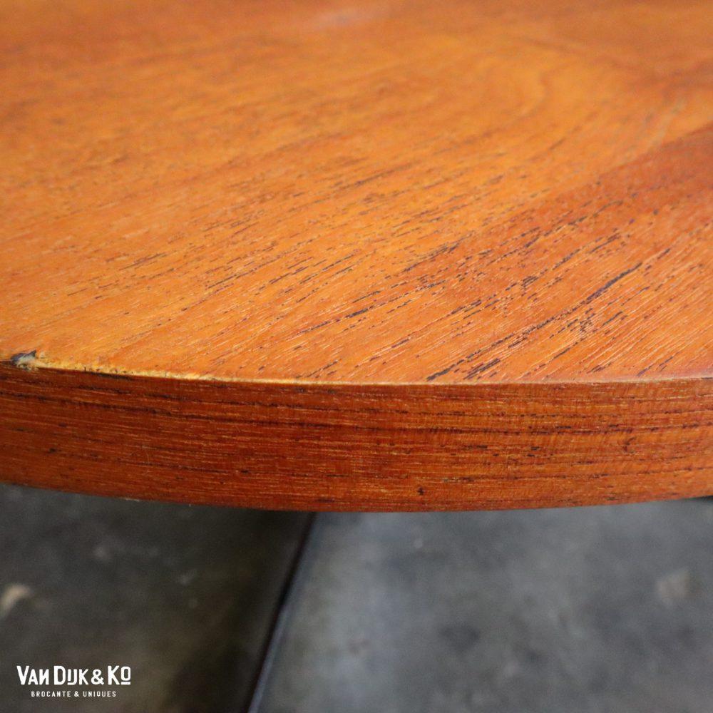 Vintage ronde salontafel
