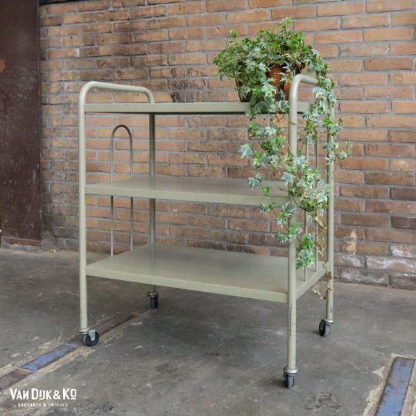 Vintage metalen trolley