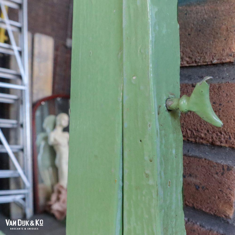 Groene kaptafel met spiegel