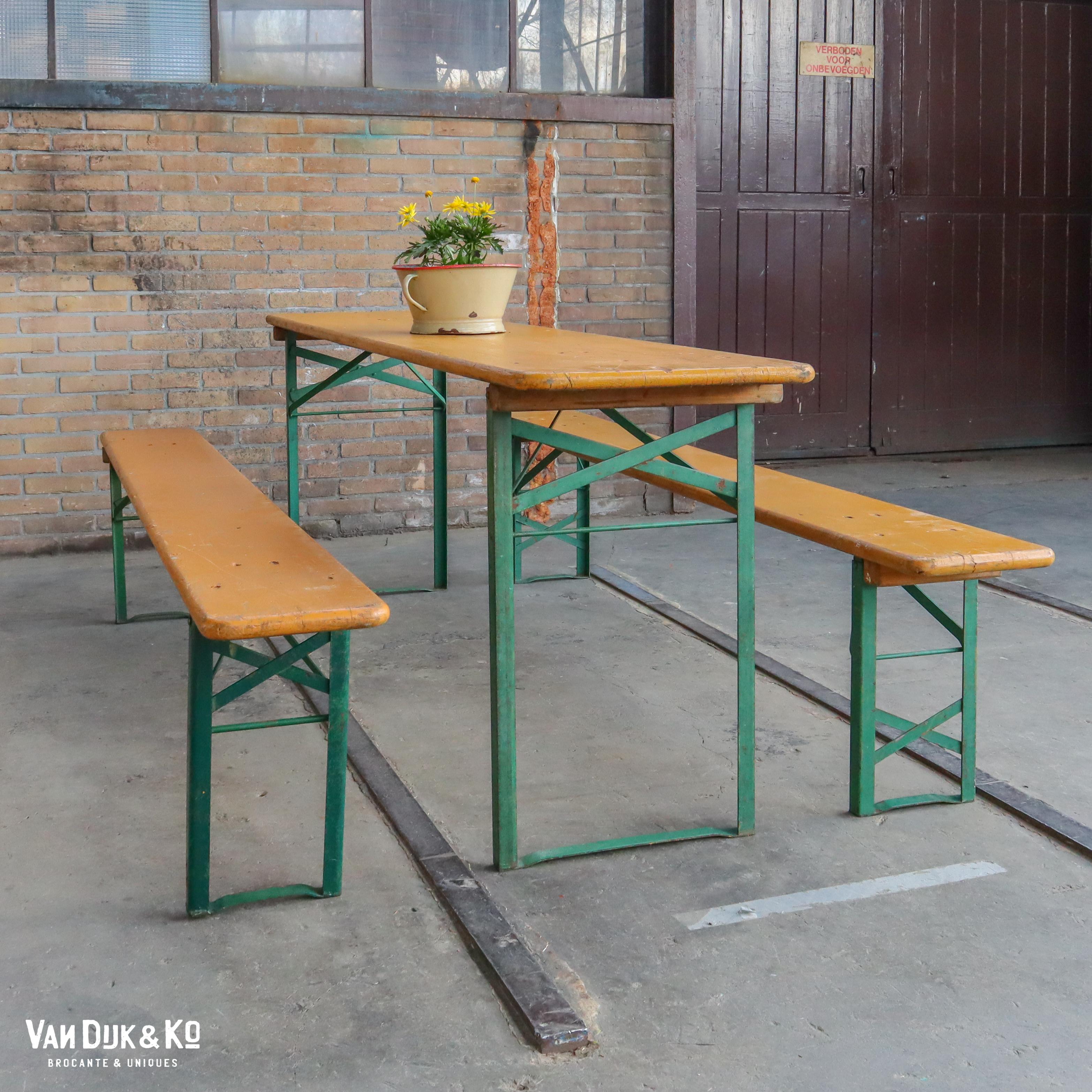 vintage biertafel set