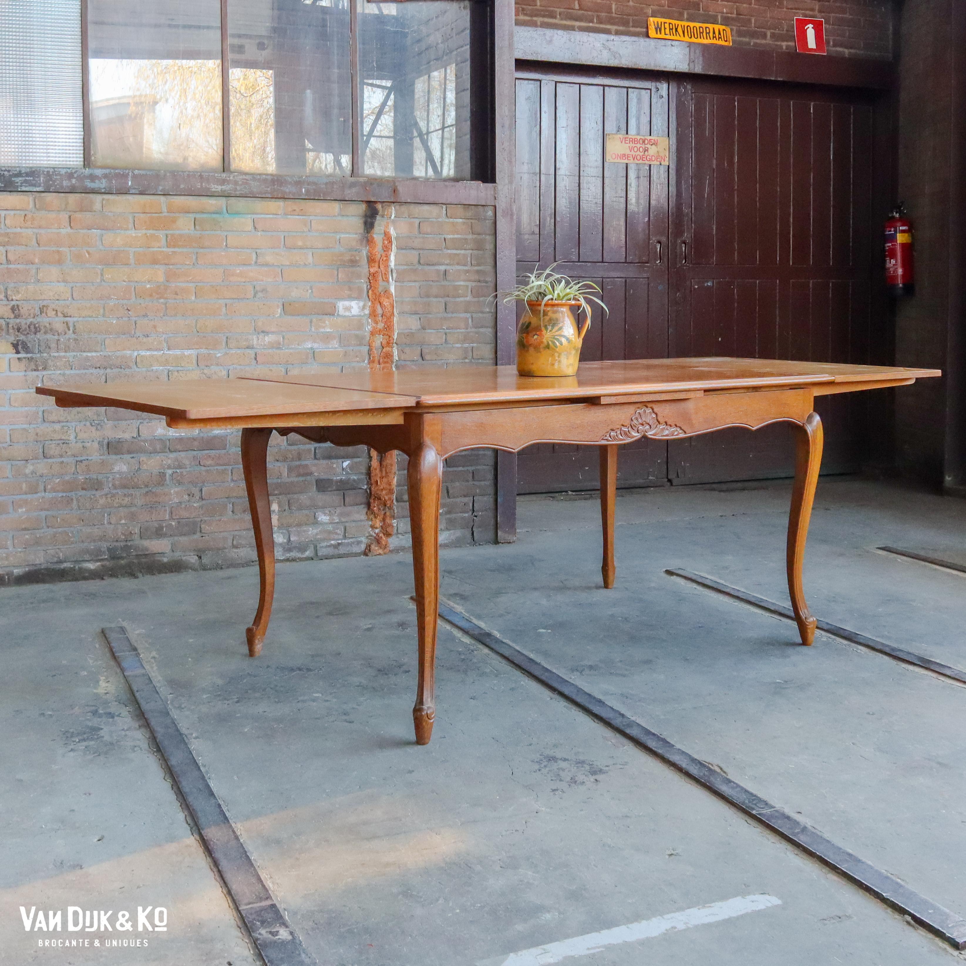 Vintage uitschuifbare tafel
