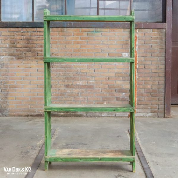 Groen/gele boekenkast