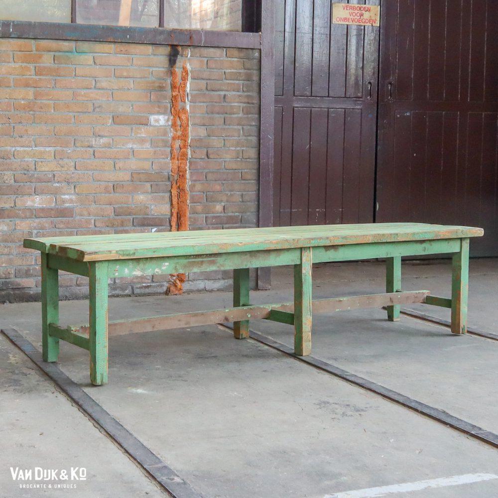 Brocante houten bank