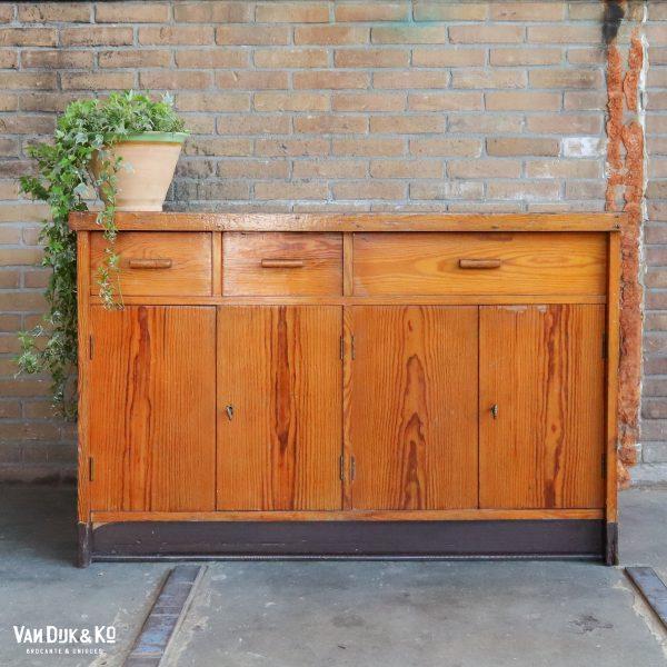 Houten vintage dressoir