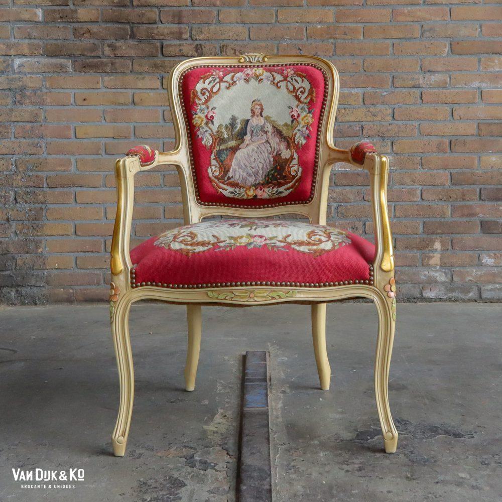 Vintage Louis XV stoel