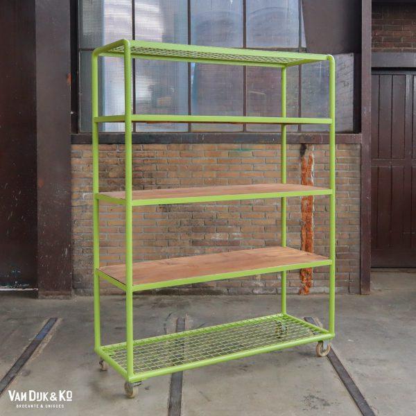 Groen industrieel rek/trolley