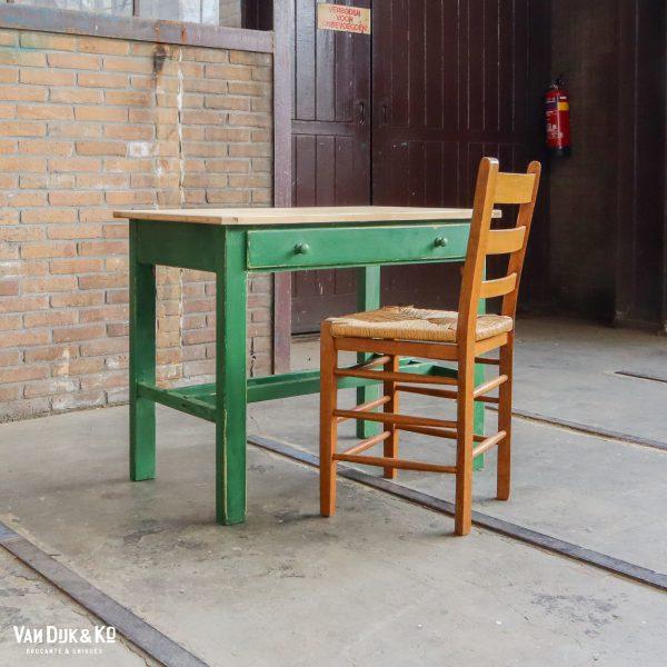 Brocante groene bureau