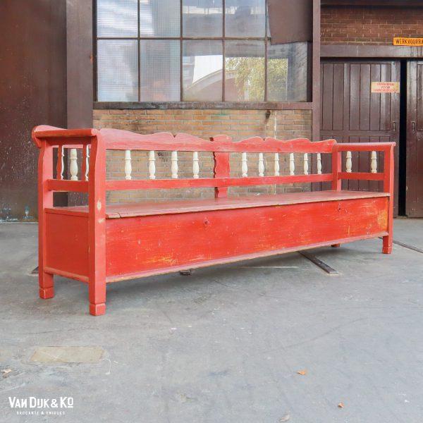 Grote houten klepbank