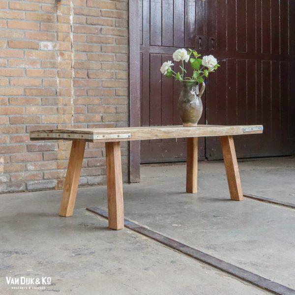 Lage houten slachttafel